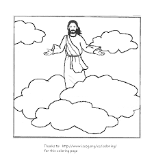 coloring page of jesus ascension ascension coloring pages