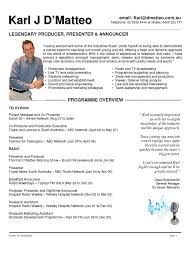 Production Resume Examples by Production Manager Resume Television Http Www Resumecareer