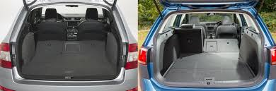 volkswagen golf trunk skoda octavia estate vs volkswagen golf estate u2013 side by side uk