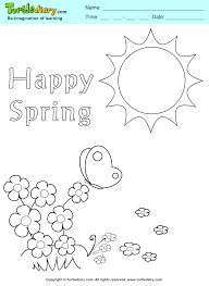 happy spring coloring sheet turtle diary