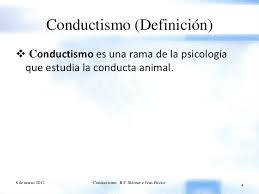 conductismo animal conductismo