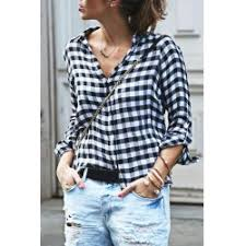Black And White Plaid Shirt Womens Black White Plaid Shirt Womens Fashion Shop Online Twinkledeals Com