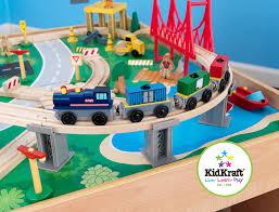 amazon com kidkraft waterfall mountain train set and table toys