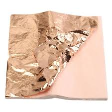 copper wrapping paper 100pcs 14x14cm copper leaf foil wrapping paper for gilding