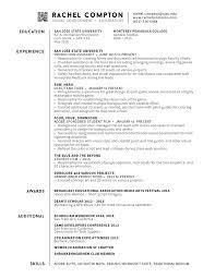 Sjsu Resume Resume U2014 Rachel Compton