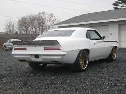 1969 camaro rear spoiler protouring 69 camaro white with gold wheels spoiler chevys and