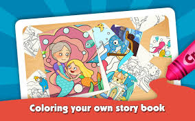 kids color book mermaid story android apps on google play
