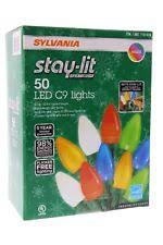 sylvania stay lit platinum 50ct c9 lights ebay