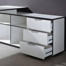 bureau d angle noir laqué bureau d angle design avec caisson area bureaux design noir et