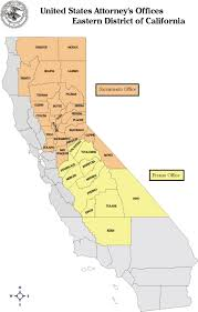 State Map Of California by Eastern District Of California Department Of Justice