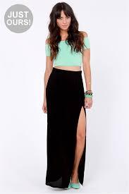 black maxi skirt with slit maxi skirt black skirt skirt 37 00