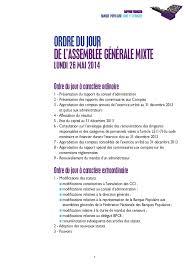 banque populaire loire et lyonnais si e banque populaire loire et lyonnais rapport annuel 2013