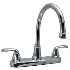 rv kitchen faucet valterra pf231302 two handle 8 inch hi arc hybrid rv kitchen