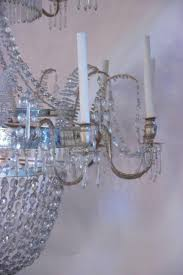 Silver Chandelier Vintage Swedish Glass And Silver Brass Chandelier 1920s For Sale