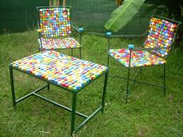 Extraordinary Recycled Interior Design Ideas Bottlecap Recycled - Recycled outdoor furniture