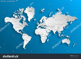 World Map Countries Political Map World Gray World Mapcountries Stock Vector 548147587