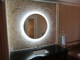 homely inpiration round bathroom mirrors with lights lighted