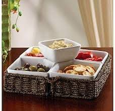 Patio Buffet Server by Amazon Com Multi Use Buffet Server With Woven Basket And 5