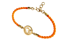 thread cord bracelet images Om bracelet for girls with 18k gold plated sterling silver on png