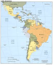 Map De Central America by Maps Of Latin America Lanic