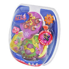 hasbro year 2008 littlest pet shop store n go pencil case with 4 littlest pet shop lps year 2006 teeniest tiniest series mini pet figure set with 2 butterfly