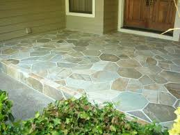 painted cement porch floors spray painted faux stone good porch