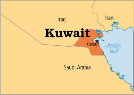 kuwait on a map kuwait operation