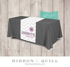 trade show table runner ribbonandquill jamberry table runner for party or trade show