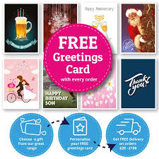 personalised cards and greetings cards free with every purchase