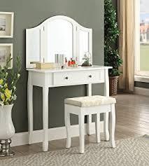 Espresso Vanity Table Amazon Com Espresso Vanity Set 5 Drawers W Stool U0026mirror By
