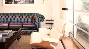 Chesterfield Sofa Patchwork Patchwork Multicolour Chesterfield Sofa Leather Cushion Seat
