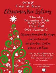official christmas tree lighting event city of katy tx