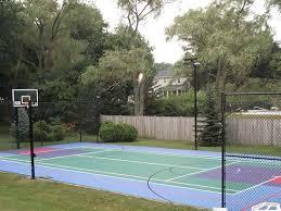 Building A Backyard Basketball Court New Home Sport Court Of Massachusetts