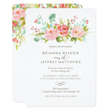 wedding invitations floral botanical wedding invitations announcements zazzle