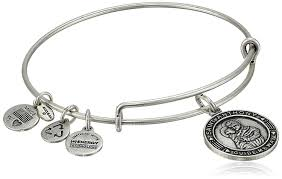 silver bangle bracelet with charms images Alex and ani bangle bar quot st anthony quot rafaelian silver jpg
