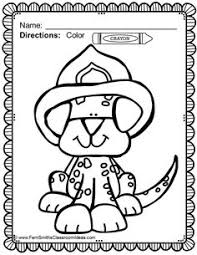 free trace and color printable firefighter and fire truck for