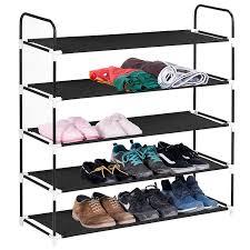 5 shelf desk organizer 5 tiers shoe rack maidmax 5 shelf nonwoven space saving shoe tower