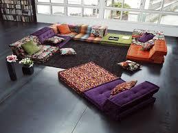 home furniture ideas bohemian living room floor cushion living