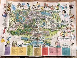 magic kingdom disney map vintage 1987 walt disney magic kingdom guide map mickey