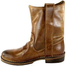 womens leather boots uk womens fly nota leather pull on mid calf boots 3