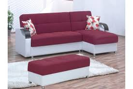furniture white and purple upholstered sectional sofa with chaise