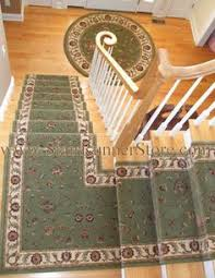 Stair Landing Rug Stair Runner With Custom Continuous Single Landing Installation
