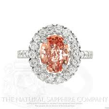 rings natural stones images Peach sapphire why peach is hot for engagement rings jpg