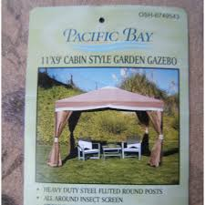 pacific casual 11 x 9 cabin style single tiered gazebo model
