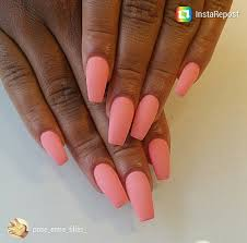 matte coral coffin nails nails pinterest coffin nails coral