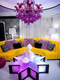 purple living room walls rectangular rustic solid cherry wood