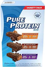 top nutrition bars amazon com pure protein high protein bar variety pack 1 76 ounce