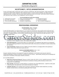Receptionist Resume Example by Record Management Resume Sales Management Lewesmr