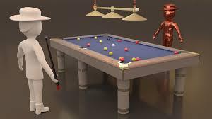 American Pool 3d Cgtrader
