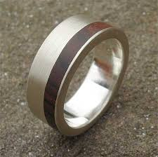 wooden metal rings images Men 39 s silver ring with wooden inlay love2have in the uk jpg